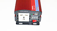Инвертор преобразователь напряжения Power Inverter 2000W 24V в 220V Вольтметр, фото 4