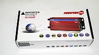 Инвертор преобразователь напряжения Power Inverter 2000W 24V в 220V Вольтметр, фото 6