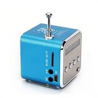 Мини портативная MP3 колонка от USB FM TD-V26 Blue, фото 1