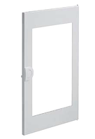 Двери белые с прозрачным окном для 1-рядного щита VOLTA