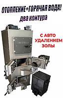 Пиролизный ДВУХКОНТУРНЫЙ котел на дровах DM-STELLA 30 кВт с автоматическим золоудалением
