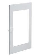 Двери белые с прозрачным окном для 3-рядного щита VOLTA