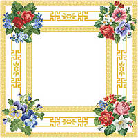 Скатерть под вышивку бисером (белый цвет)