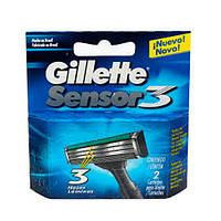 Gillette Sensor 3 сменные картриджи в упаковке
