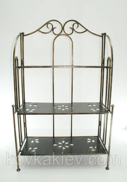 Кованая мебель Этажерка прямая 3., фото 1