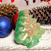"""Глицериновое мыло ручной работы """" Новогодняя ель с игрушками""""., фото 1"""