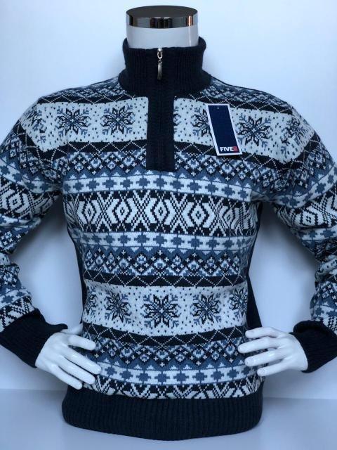 10b0111f7821 Свитер мужской теплый с высоким горлом FIVE 5, красивый зимний орнамент,  цена 470 грн., купить в Харькове — Prom.ua (ID#819457326)