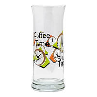 Стакан стеклянный Uniglass декор Any Time Coffee Time 310 мл. для кофе