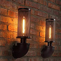 Светильник loft Vintage Industrial [ SUBMARINE PIPE   Black ] (водопровод), фото 1