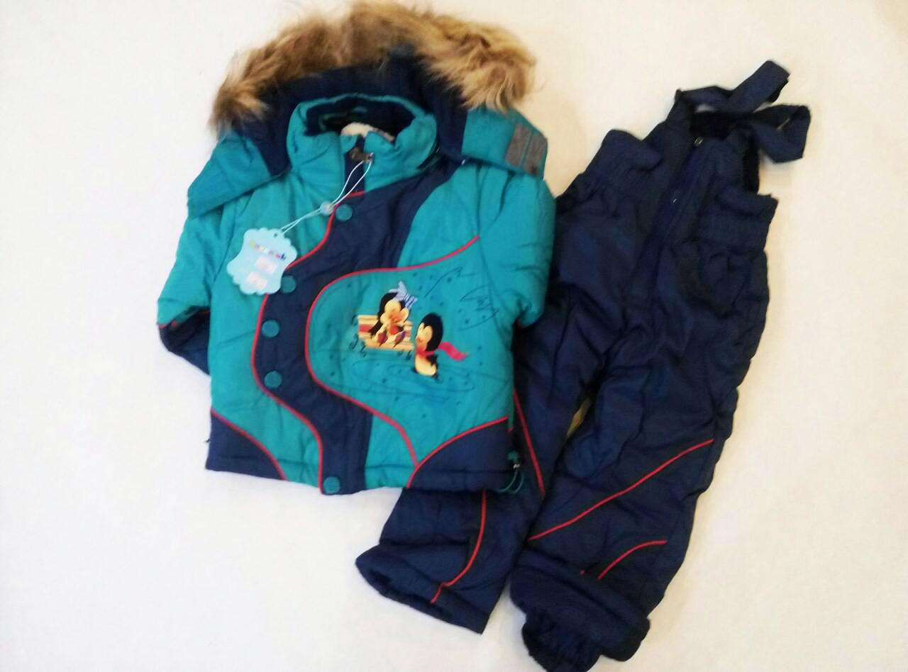 Детский зимний комбинезон на мальчика 74-80