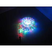Новогодняя светодиодная гирлянда шланг 8м RGB