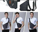 Чоловіча сумка-месенджер через плече CrossBody, сумка Крос-боді, фото 4