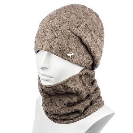 Женский комплект шапка и снуд шерстяной Zolly ZH-29, фото 2