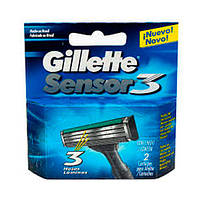 Gillette Sensor 3 сменные картриджи в упаковке 2 шт
