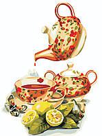 """Картина по номерам """"Чай с лимоном"""" 30*40см"""
