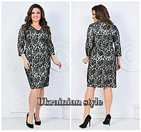 Женское гипюровое платье для пышных леди. 4 цвета!, фото 1