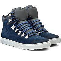 Молодежные зимние ботинки синие Merrell Valley Mid J23657