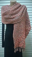 трикотажный объёмный шарф воздушного плетения