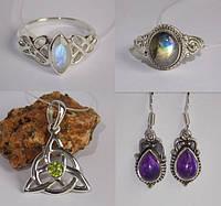Новинки из Индии: серебряные украшения с натуральными камнями