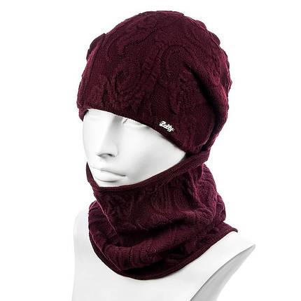 Женский комплект шапка и снуд модный Zolly ZH-30, фото 2