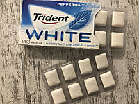 Отбеливающая жвачка без сахара Trident White Перечная мята