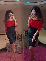 Платье красно-черное с кантиком