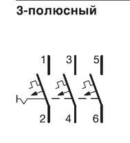 Автоматичний вимикач 6 А, 3п, B, 6 kA, hager, Франція, фото 3