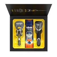 Gillette Fusion ProShield (станок для бритья Gillette+Гель 170мл+чехол) НАБОР