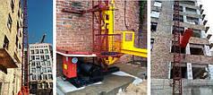 Высота подъёма Н-99 метров. Мачтовые грузовые подъёмники для строительных работ  ПМГ г/п 1000кг, 1 тонна.