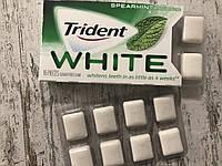 Отбеливающая жвачка без сахара Trident White Мята