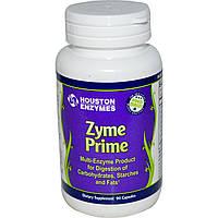 Houston Enzymes, Zyme Prime, мультиэнзимы, 90 капсул