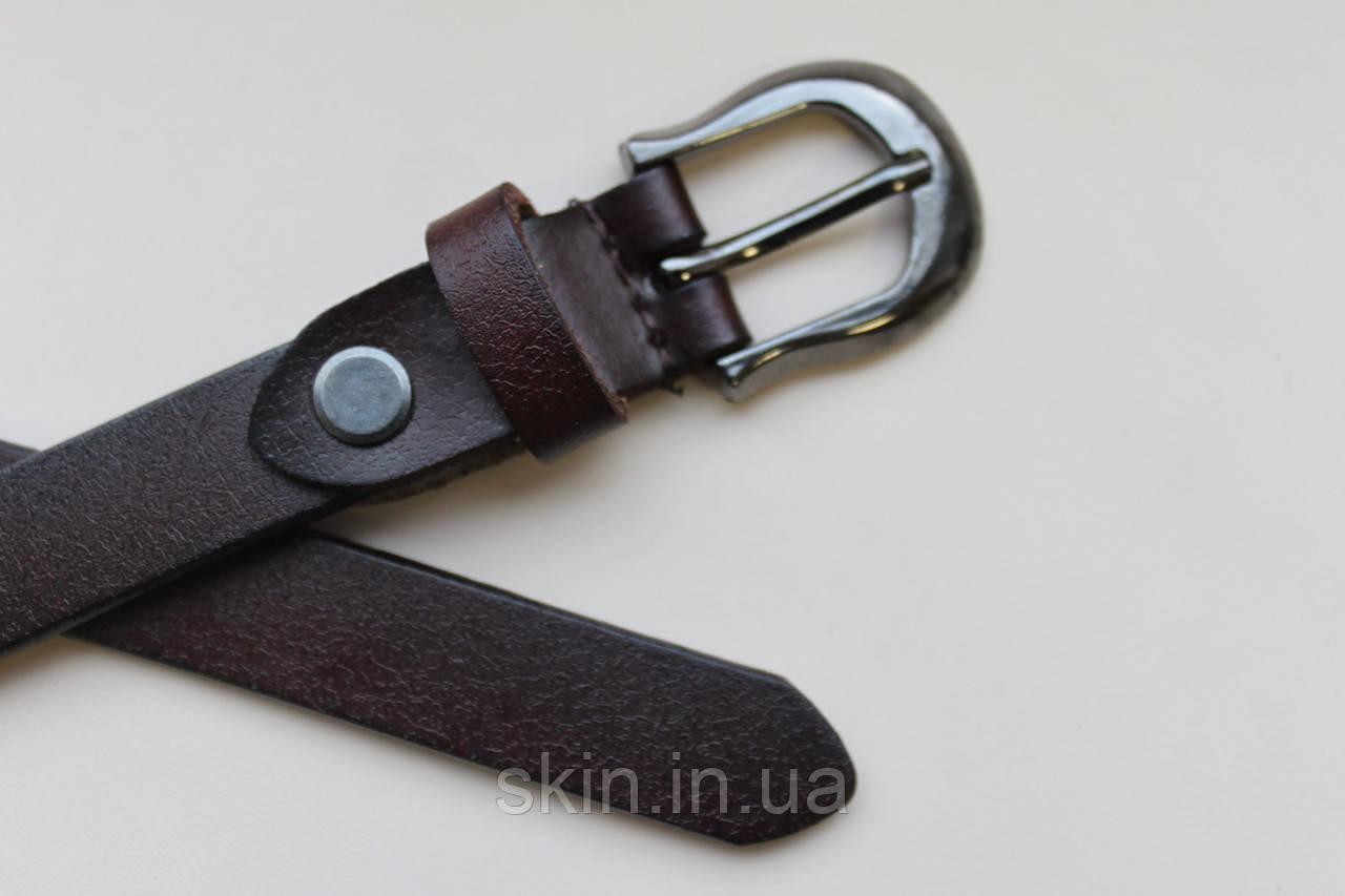 Женский ремень с пряжкой, ширина - 18 мм, цвет - коричневый, артикул СК 8048