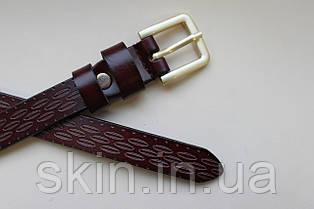 Женский ремень с пряжкой, ширина - 18 мм, цвет - коричневый, артикул СК 8049