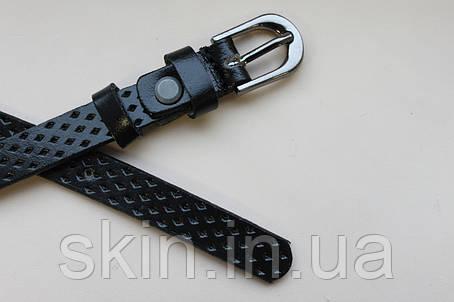 Женский ремень с пряжкой, ширина - 15 мм, цвет - черный, артикул СК 8050, фото 2