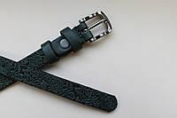 Женский ремень с пряжкой, ширина - 15 мм, цвет - зеленый, артикул СК 8055