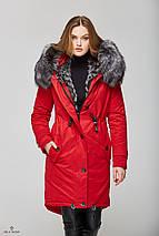 Зимняя Парка с мехом красная, фото 2