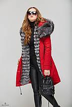 Зимняя Парка с мехом красная, фото 3