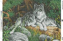 А2Н_028 Волки. Схема для вышивки бисером