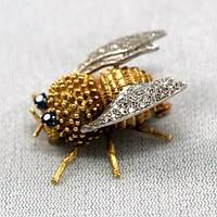 Броши Мотыльки, Мухи, Пчелки