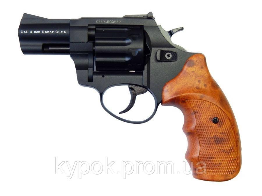 """Револьвер флобера STALKER S 2,5"""" (барабан: силумин / черный / пластик под дерево)"""