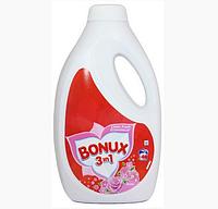Bonux 3в1 гель для стирки светлого и цветного белья Rose (2,6 л-40 ст) Германия