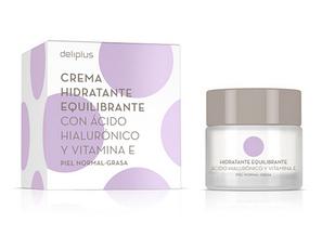 Увлажняющий крем для лица с гиалуроновой кислотой и витамином Е, deliplus, 50 мл .Испания