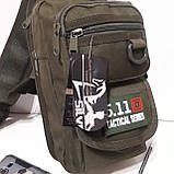 Рюкзак кобура для военных на одно плечо 10 л оливковый, фото 2