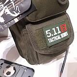 Рюкзак кобура для военных на одно плечо 10 л оливковый, фото 3