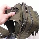 Рюкзак кобура для военных на одно плечо 10 л оливковый, фото 5