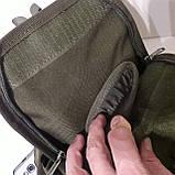 Рюкзак кобура для военных на одно плечо 10 л оливковый, фото 6
