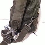 Рюкзак кобура для военных на одно плечо 10 л оливковый, фото 8