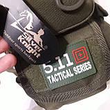 Рюкзак кобура для военных на одно плечо 10 л оливковый, фото 10