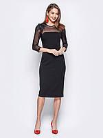 Елегантне платі-міді з кокеткою і рукавами з сітки 8b51e21abf326