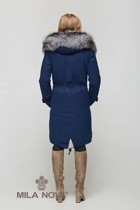 Зимняя Парка с мехом Синий, фото 2